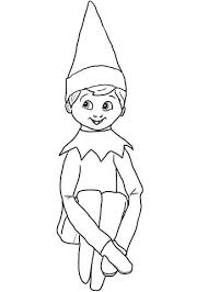 Click To See Printable Version Of Christmas Elf On Shelf Coloring Page