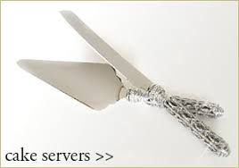 Wedding Cake Knives Server Sets