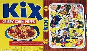 1949 General Mills Kix Cereal Box 5000