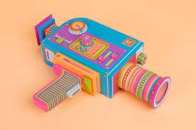A Colorful Paper Video Camera