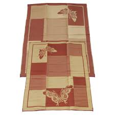 polypropylene patio mat 9 x 12 fireside patio mats butterfly burgundy and coral 9 ft x