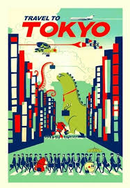 Details Zu CUTE VINTAGE STYLE TRAVEL TO TOKYO VISIT JAPAN POSTER A3 ART PRINT