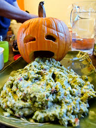Pumpkin Barfing Guacamole Tasty by 5 Ghoulish And Healthy Halloween Snack Ideas