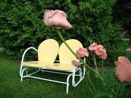 Vintage Metal Patio Chairs Yellow : Outdoor Decorations ...