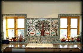 painted tiles for kitchen backsplash glamorous decorative