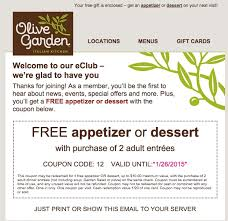 Olive Garden Printable Coupons 2018
