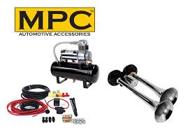 100 Air Horn Kits For Trucks Kit For TwoTrumpet With 12Volt Heavy Duty 150 PSI