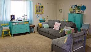 Colorful Eclectic Vintage Living Room