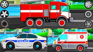 Learning Vehicles Names And Sounds - Police Car. Fire Truck ...