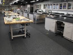 Niles West High School STEM Lab Rubber Flooring