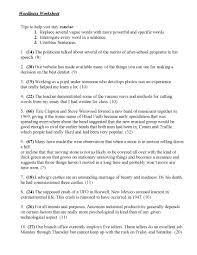 Wordiness Worksheet