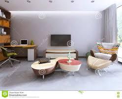 fernseheinheit in einem zeitgenössischen wohnzimmer mit