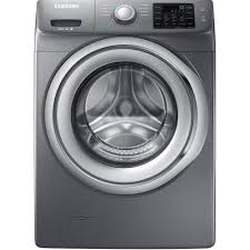 Samsung 4 2 cu ft Front Load Washer with Steam in Platinum