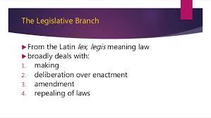 ARTICLE 6 LEGISLATIVE DEPARTMENT