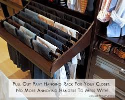 Pull out pant hanging rack for your closet No more annoying