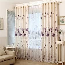 rideaux chambres à coucher rideaux de chambre a coucher 10 printed purple leaf pattern beige