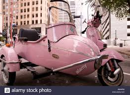 Pink Stella Motor Scooter With Sidecar Texas And Fannin Streets Houston