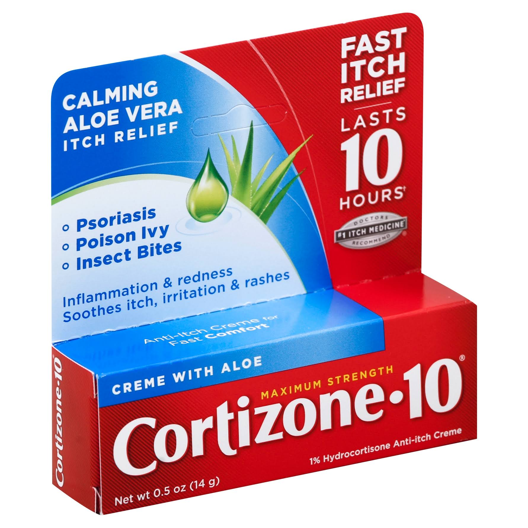 Cortizone 10 Max Strength 1 Hydrocortisone Anti itch Creme - 0.5oz