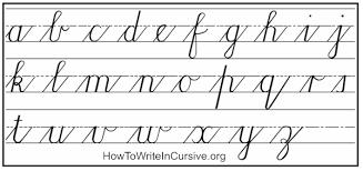 Lower Case Cursive Letters