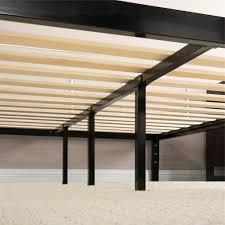 Platform Bed Frame by King Size Modern Black Metal Platform Bed Frame With Wooden Slats