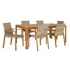 Captain Chairs For Dining Room Table by Garden Furniture Set Captain Table And 6 Chairs 200x100xh87cm