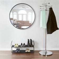 wandspiegel hub spiegel rund schwarz 91 cm umbra