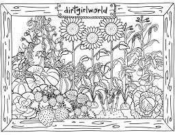 Gardens To Color Image Gallery Garden Coloring Pages