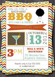 Exquisite BBQ Party Invitation Invite Idea For Housewarming With Exciting Layout In Colorful Color Scheme
