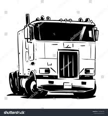 Old Cabover Truck Illustration Stock Vector (Royalty Free ...