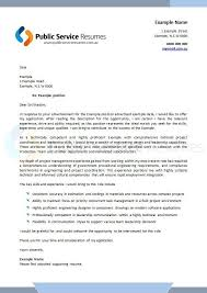 Public Service Resumes Cover Letter Example 1