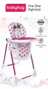 Babyhug Fine Dine Highchair With 6 Adjustable Heights & 3 Level Seat  Recline Pink White Online In India, Buy At Best Price From Firstcry.com -  1893631 Graco Standard Full Sized Crib Slate Gray Peg Perego Tatamia 3in1 Highchair In Stripes Black Stokke Tripp Trapp High Chair 2018 Heather Pink Costway Baby Infant Toddler Feeding Booster Folding Height Adjustable Recline Buy Chairs Online At Overstock Our Best Walmartcom My Babiie Group 012 Isofix Car Seat Complete Gear Bundstroller Travel System Table 2 Goldie Walmart Inventory Boost 1 Breton Stripe Evenflo 4in1 Eat Grow Convertible Prism