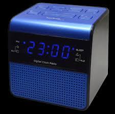 wt 463 radiowecker weckradio wecker uhr blau led ziffern 2 weckzeiten