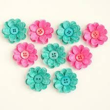 Paper Flower Embellishments For Cards