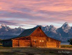 Moulton Barn On Mormon Row During A Summer Sunrise In Grand Teton National Park Near Jackson