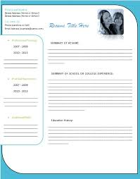Student Resume Template Templates Word Cv Free Download 2007 Sample In
