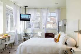 Modern Chic Bedroom Interior Design Queen Alcove NU Hotel Rooms Brooklyn NYC