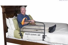 Ez Adjust Bed Rail by Stander Ez Adjust Bed Rail With Pouch Able2