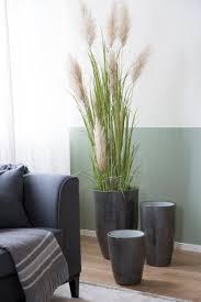 fink übertopf melua grau silberfarben 1 stück blumenübertopf blumentopf höhe 51 cm ø 30 cm handgefertigt aus porzellan wohnzimmer