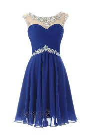 open back royal blue short tulle homecoming prom dresses