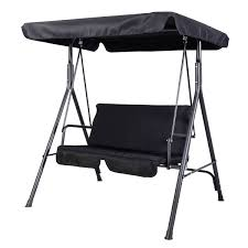 Patio Swings With Canopy by 2 Person Patio Swing Canopy Hammock Black Porch Swings Outdoor