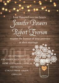 Rustic Stringlight Snowflake Winter Wedding Invitation EWI410 3