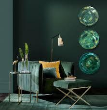 bilderset 3 stück acrylbilder auf leinwand handgemalte wandbilder grün gold designobjekte runde wandbilder