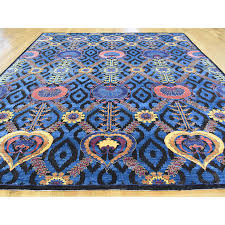 9 x12 Hand Knotted Wool And Silk Modern Arts And Crafts Rug