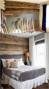 This Gorgeous Bedroom Accent Wall Is Made With Pallet Boards Learn The Great Tips Here On How To Stagger Wood Joints