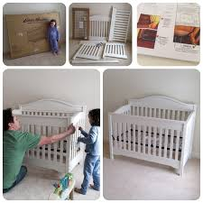 interesting white ed bauer crib on cozy berber carpet for inspiring nursery furniture ideas
