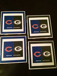 Green Bay Packers Pumpkin Carving Ideas by House Divided Coasters Chicago Bears Green Bay Packers