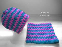 Gorro y Cuello Simple a Crochet – Mimitos a Crochet