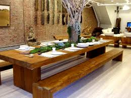 Dining Room Designs Amazing Design Reclaimed Wood Table With Bench Stunning