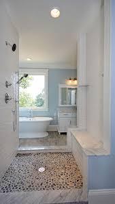 Sliced Pebble Tile Canada by Best 25 Shower Floor Ideas Only On Pinterest Master Shower