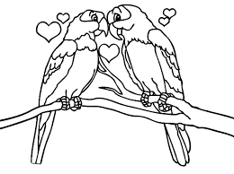 Love Is All Around Birds Coloring Pages